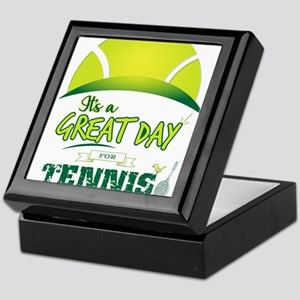 It's a Great Day For Tennis Keepsake Box