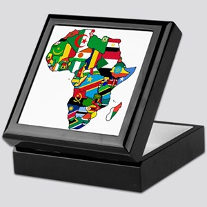 Flags of Africa Keepsake Box