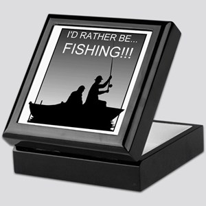 I'd Rather Be Fishing!!! Keepsake Box