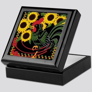 ROOSTER IN THE SUNFLOWERS Keepsake Box