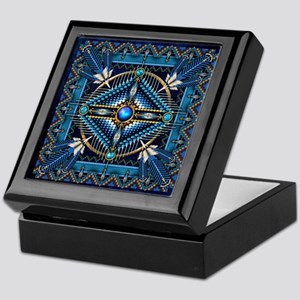 Native American Style Tapestry 3 Keepsake Box