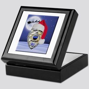 Law Enforcement Support Christmas Keepsake Box