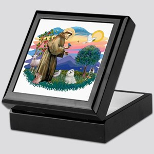 St Francis #2 / Maltese (#7) Keepsake Box