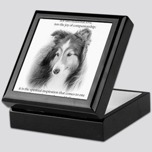 Sheltie Glory Keepsake Box