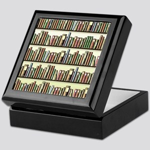 Reading Room Bookshelf Keepsake Box