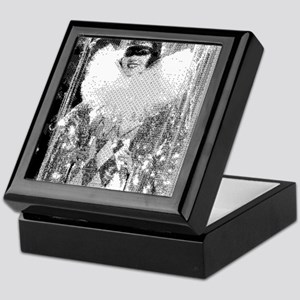 Modern Art Masquerade Black Lacquer Jewelry Box