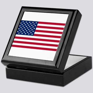 American Flag Keepsake Box