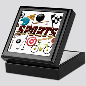Sports Collage Keepsake Box