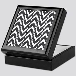 Black and White Pattern Keepsake Box