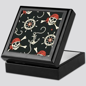 Pirate Skulls Keepsake Box