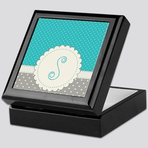 Cute Monogram Letter S Keepsake Box