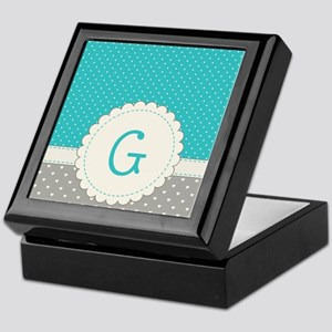 Cute Monogram Letter G Keepsake Box