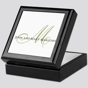 Names and Monogrammed Initial Keepsake Box
