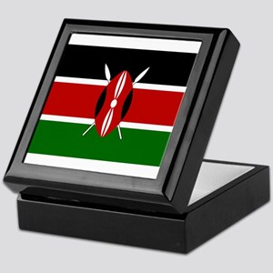 Kenya Flag Keepsake Box