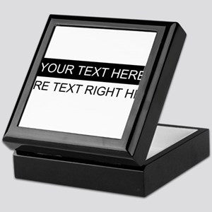 Custom Black & White Two-Line Persona Keepsake Box