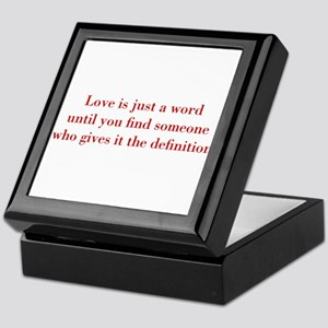 Love-is-just-a-word-BOD-RED Keepsake Box