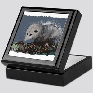Opossum on a Gnarley Branch Keepsake Box