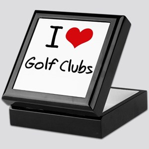 I Love Golf Clubs Keepsake Box