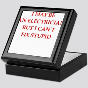 electrician Keepsake Box