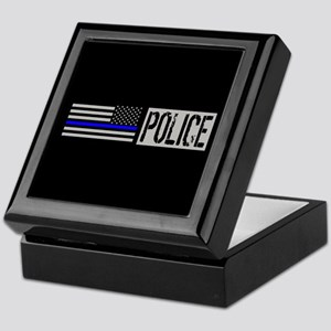 Police: Police (Black Flag, Blue Line Keepsake Box