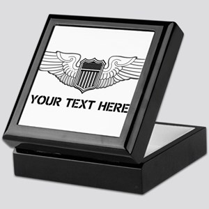PERSONALIZED PILOT WINGS Keepsake Box