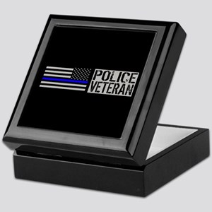 Police: Police Veteran (Black Flag Bl Keepsake Box