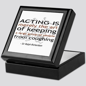 Sir Ralph Richardson Quote Keepsake Box