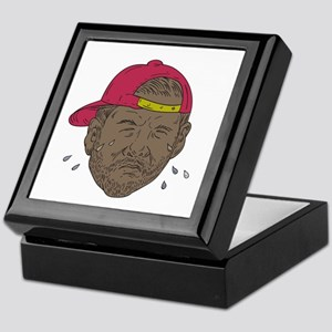African-American Rapper Crying Drawing Keepsake Bo