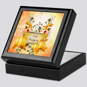 Happy thanksgiving with pumpkin Keepsake Box