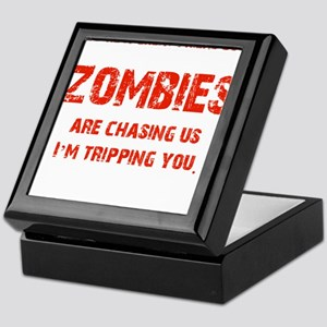 Zombies Chasing us! Keepsake Box