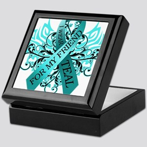 I Wear Teal for my Friend Keepsake Box