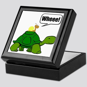 Snail Turtle Ride Keepsake Box