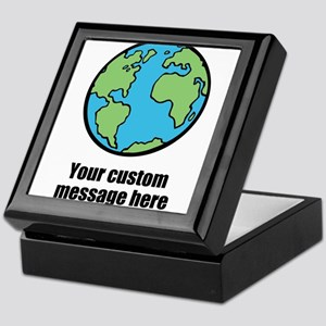 Make your own custom earth message Keepsake Box