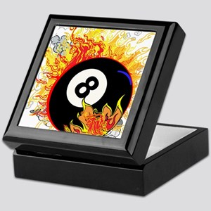 Fiery Eight Ball Keepsake Box