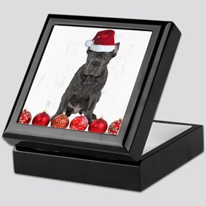 Christmas Cane Corso Puppy Keepsake Box