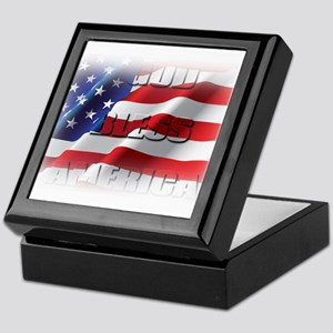 Patriotic God Bless America Keepsake Box