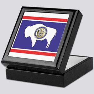 Wyoming State Flag Keepsake Box