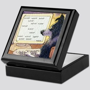 Border Collie dog writer Keepsake Box