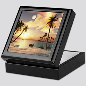 Tropical Beach Keepsake Box