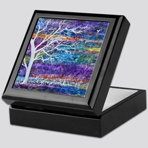 Abstract Tree landscape Keepsake Box