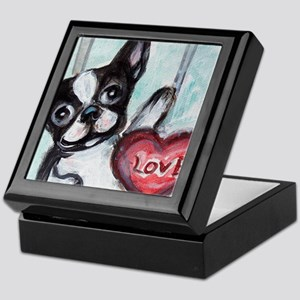 Boston Terrier Heart Keepsake Box
