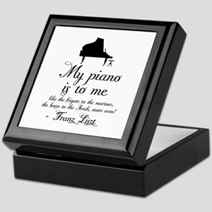 Franz Liszt Piano Quote Keepsake Box