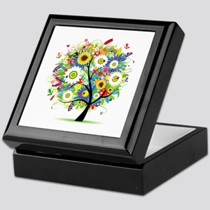 summer tree Keepsake Box