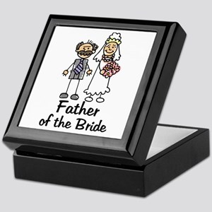 Cartoon Bride's Father Keepsake Box