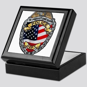 Police To Protect and Serve Keepsake Box