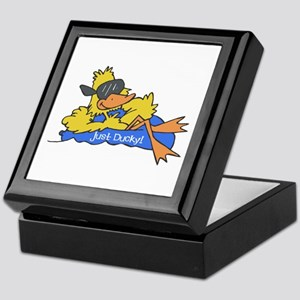Ducky on a Raft Keepsake Box