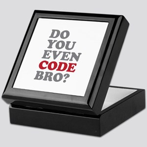 Do You Even Code Bro Keepsake Box