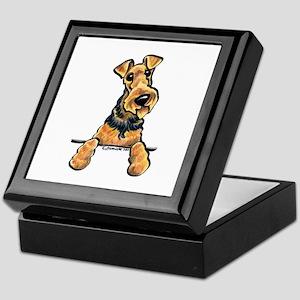 Welsh Terrier Paws Up Keepsake Box