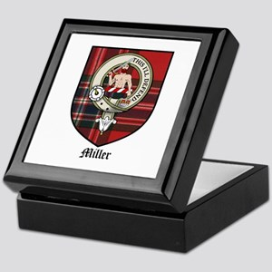 Miller Clan Crest Tartan Keepsake Box
