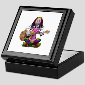 Hippy Chick ~ Peace and Love Keepsake Box